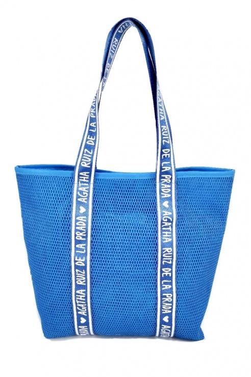 BLUE MESH BAG