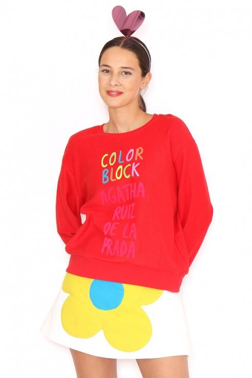 SUDADERA ROJA BLOCK