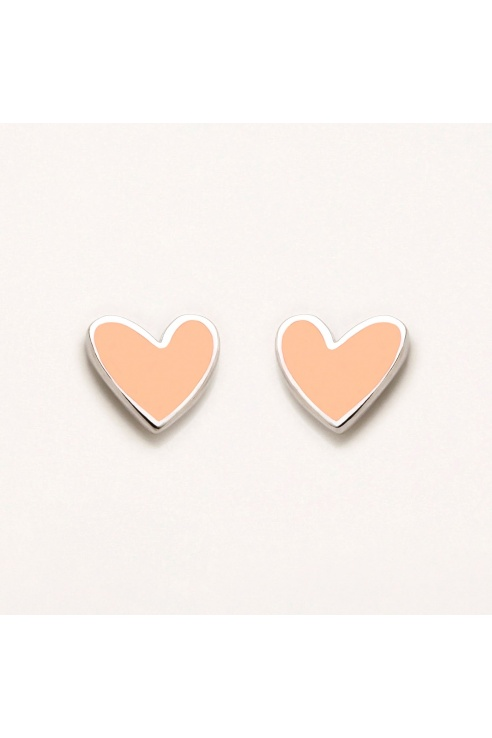 ORANGE HEART EARRING