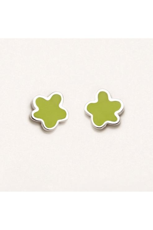 GREEN FLOWER EARRING