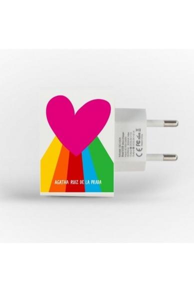 ENCHUFE DOBLE USB ARCOIRIS