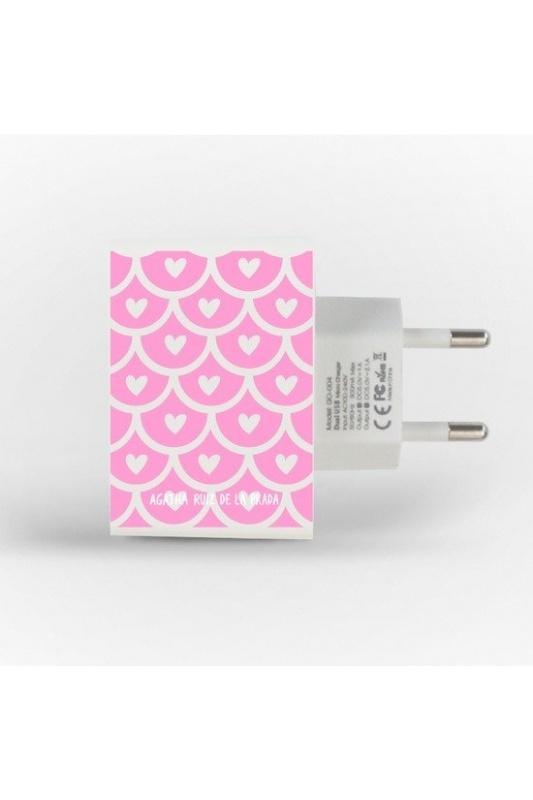 ENCHUFE DOBLE USB ESCAMAS