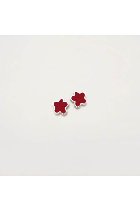 SALMON FLOWER EARRING