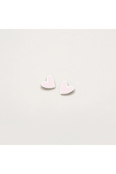 PINK HEART EARRING