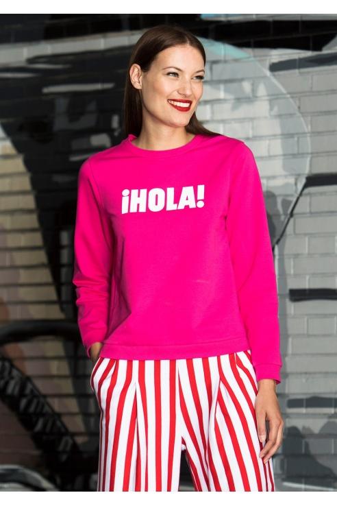 SUDADERA FUCSIA HOLA