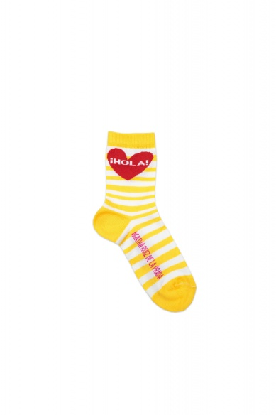CHAUSSETTES COURTES RAYÉES HELLO HEART