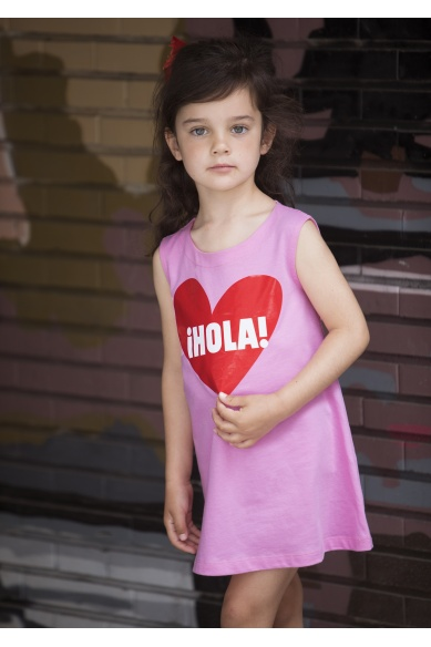 HELLO GIRL'S HEART DRESS