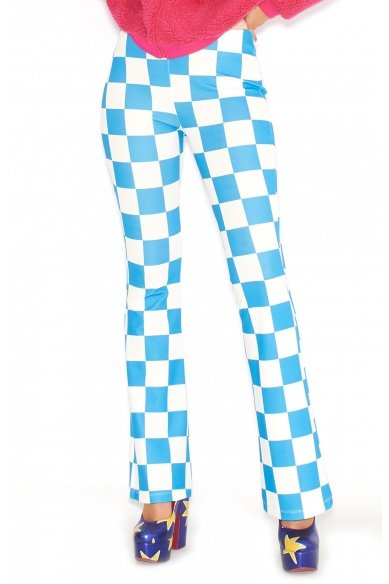 BLUE CHECKERED TROUSERS