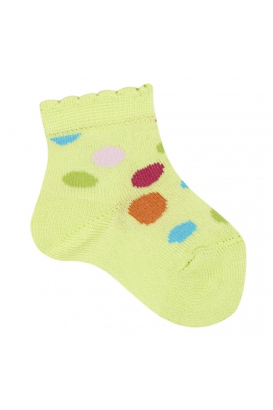 SHORT DOTTY SOCKS IN GREEN